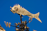 fish weather vane on the top of old billingsgate market