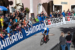 26.09.2018, Innsbruck, AUT, UCI Straßenrad WM 2018, Einzelzeitfahren, Elite, Herren, von Rattenberg nach Innsbruck (54,2 km), im Bild Alessandro de Marchi (ITA) // Alessandro de Marchi of Italy during the men's individual time trial from Rattenberg to Innsbruck (54,2 km) of the UCI Road World Championships 2018. Innsbruck, Austria on 2018/09/26. EXPA Pictures © 2018, PhotoCredit: EXPA/ Reinhard Eisenbauer