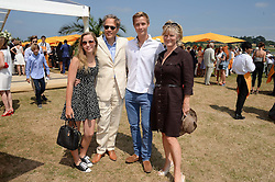 Left to right, LADY ELOISE GORDON-LENNOX, the EARL OF MARCH, WILLIAM GORDON-LENNOX and the COUNTESS OF MARCH at the Veuve Clicquot Gold Cup, Cowdray Park, Midhurst, West Sussex on 21st July 2013.