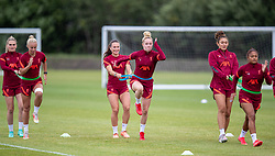 WALLASEY, ENGLAND - Wednesday, July 28, 2021: Liverpool's Missy Bo Kearns (R) and Leighanne Robe (L) during a training session at The Campus as the team prepare for the start of the new 2021/22 season. (Pic by David Rawcliffe/Propaganda)