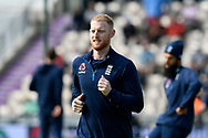 Ben Stokes of England warming up before the first day of the 4th SpecSavers International Test Match 2018 match between England and India at the Ageas Bowl, Southampton, United Kingdom on 30 August 2018.