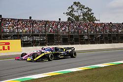 November 17, 2019, Sao Paulo, Brazil: xa9; Photo4 / LaPresse.17/11/2019 Sao Paulo, Brazil.Sport .Grand Prix Formula One Brazil 2019.In the pic: Daniel Ricciardo (AUS) Renault Sport F1 Team RS19 and Lance Stroll (CDN) Racing Point F1 Team RP19 (Credit Image: © Photo4/Lapresse via ZUMA Press)