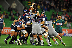 Rolling action / Maul.Melbourne Rebels v The Hurricanes.Rugby Union - 2011 Super Rugby.AAMI Park, Melbourne VIC Australia.Friday, 25 March 2011.© Sport the library / Jeff Crow