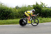 UK, Chelmsford, 28 June 2009: DAVID BRYANT (S) SOUTHEND WHEELERS completed theh E9 / 25 course in 59 mins 58 secs. Images from the Chelmer Cycle Club's Open Time Trial Event on the E9 / 25 course. Photo by Peter Horrell / http://peterhorrell.com .