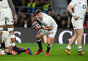 Twickenham, England, 7th March 2020, Ben YOUNGS, looking for a pass during  the Guinness Six Nations, International Rugby, England vs Wales, RFU Stadium, United Kingdom, [Mandatory Credit; Peter SPURRIER/Intersport Images]