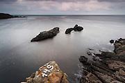 The rocks of Kolokita cape at sunset