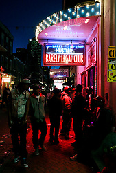 03 Feb 2013. New Orleans, Louisiana USA. .Bourbon Street strip Club. Larry Flint's Barely Legal Gentlemen's club in the heart of the French Quarter..Photo; Charlie Varley
