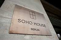 2011, BERLIN/GERMANY:<br /> Schild am Eingang, Soho House Berlin, Privat Member Club, Torstrasse<br /> IMAGE: 20120104-01-056