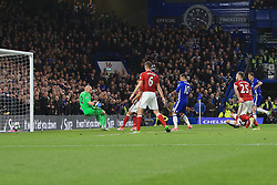 8 May 2017 - Premier League - Chelsea v Middlesbrough - Nemanja Matic of Chelsea scores their 3rd goal - Photo: Marc Atkins / Offside.