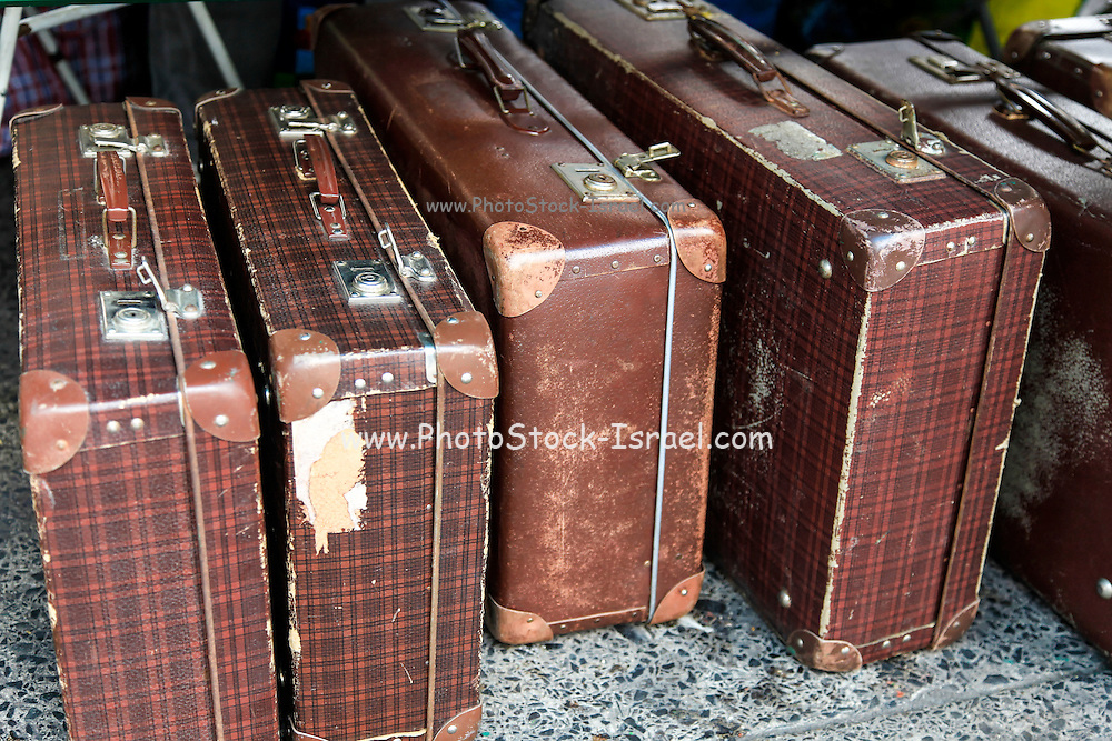 Old style suitcases