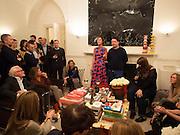 VALERIA NAPOLEONE; JOE SCOTLAND ( STUDIO VOLTAIRE ) Valeria Napoleone hosts a dinner at her home in honour of Judith Hopf in cerebration of her new commission at Studio Voltaire. London. 15 October 2013