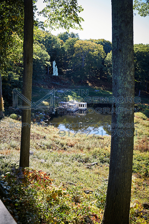 An image from Philip Johnson's Glass House in New Canaan, CT.