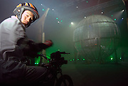 Bellucci Circus performed in Tel Aviv, Israel in April daredevil on a motorcycle