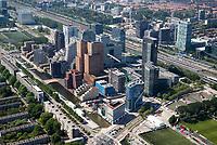 AMSTERDAM -  Luchtfoto Zuidas met kantoren,   COPYRIGHT  KOEN SUYK