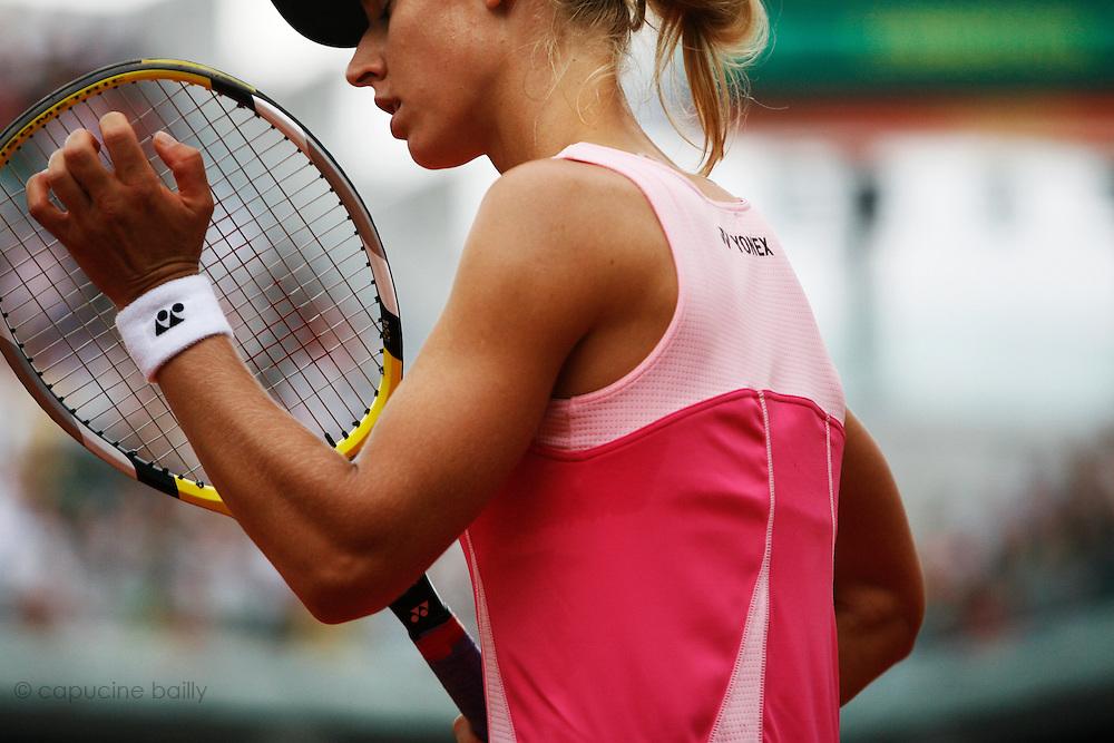 Wednesday June 4th 2008. Roland Garros. Paris, France. .Elena DEMENTIEVA against Dinara SAFINA..Tennis French Open. 1/4 Finals...