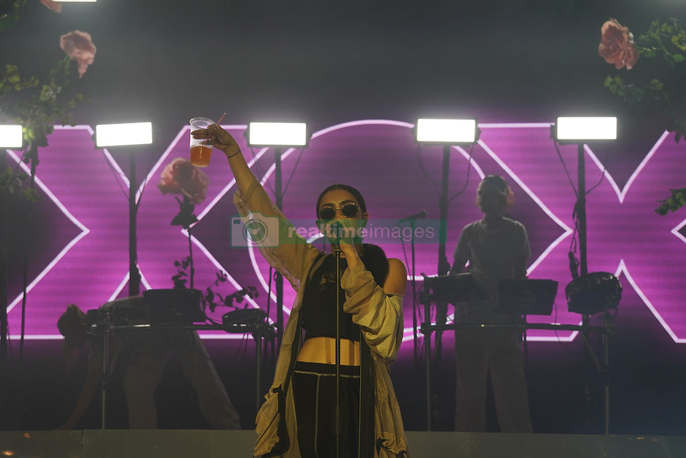 Charli XCX performing live on the Radio 1 Dance Stage at the 2017 Reading Festival. Photo date: Sunday, August 27, 2017. Photo credit should read: Richard Gray/EMPICS Entertainment