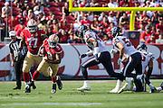 San Francisco 49ers quarterback Thad Lewis (9) carries the ball against the Houston Texans at Levi's Stadium in Santa Clara, Calif., on August 14, 2016. (Stan Olszewski/Special to S.F. Examiner)