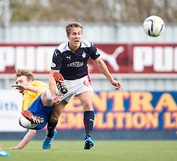 Cowdenbeath's Chris Kane and Falkirk's Will Vaulks. <br /> Falkirk 6 v 0 Cowdenbeath, Scottish Championship game played at The Falkirk Stadium, 25/10/2014.