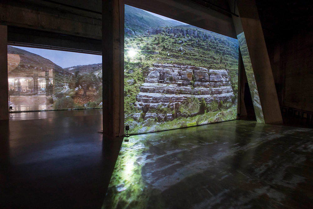 A new work by Jumana Emil Abboud; commissioned for the BMW Tate Live Exhibition; a site-specific installation combining projection; sound and live performance.