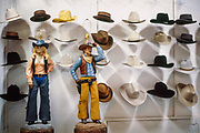 Western lamps and hats for sale in Albuquerque, NM.