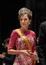October 22, 2019, Tokyo, JAPAN: 22-10-2019 Gala Royals arrive at the Imperial Palace for the Court Banquets, the 'Kyoen-no-gi' banquet, after the ceremony of the enthronement of Emperor Naruhito in Tokyo, Japan Queen Letizia  (Credit Image: © face to face via ZUMA Press)