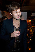 Douglas Booth, InStyle's Best Of British Talent Party in association with Lancome. Shoreditch HouseLondon. 25 January 2011, -DO NOT ARCHIVE-© Copyright Photograph by Dafydd Jones. 248 Clapham Rd. London SW9 0PZ. Tel 0207 820 0771. www.dafjones.com.