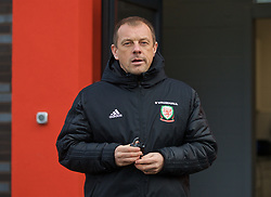WREXHAM, WALES - Wednesday, October 30, 2019: Wales' head coach Richard Williams before the 2019 Victory Shield match between Wales and Republic of Ireland at Colliers Park. (Pic by David Rawcliffe/Propaganda)