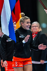 Jessy Kramer of Netherlands before the Women's EHF Euro 2020 match between Netherlands and Germany at Sydbank Arena on december 14, 2020 in Kolding, Denmark (Photo by RHF Agency/Ronald Hoogendoorn)