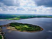 Nederland, Overijssel, Genemuiden, 07-05-2021;  Zwarte meer, Vogeleiland nabij de monding van het Zwarte water,<br /> <br /> luchtfoto (toeslag op standard tarieven);<br /> aerial photo (additional fee required)<br /> copyright © 2021 foto/photo Siebe Swart