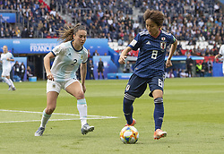 Agustina BARROSO (ARG), Mana IWABUCHI (JPN) in action during the match of 2019 FIFA Women's World Cup France group D match between Argentina andJapan, at Parc des Princes on June 10, 2019 in Paris, France. Photo by Loic BARATOUX/ABACAPRESS.COM