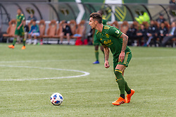 November 4, 2018 - Portland, OR, U.S. - PORTLAND, OR - NOVEMBER 04: Portland Timbers defender Liam Ridgewell looks for a pass during the Portland Timbers first leg of the MLS Western Conference Semifinals against the Seattle Sounders on November 04, 2018, at Providence Park in Portland, OR. (Photo by Diego Diaz/Icon Sportswire) (Credit Image: © Diego Diaz/Icon SMI via ZUMA Press)