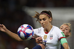 June 28, 2019 - Paris, France - Alex Morgan (Orlando Pride) of United States and Marion Torrent (Montpellier HSC) of France competes for the ball during the 2019 FIFA Women's World Cup France Quarter Final match between France and USA at Parc des Princes on June 28, 2019 in Paris, France. (Credit Image: © Jose Breton/NurPhoto via ZUMA Press)