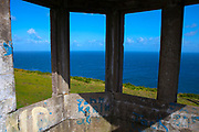 """Abandoned World War II watchtower from """"The Emegency"""" - of ony 82 around Ireland used to spot foreign vessels approaching the Irish coast, at Brandon Point, Dingle Peninsula, Co. Kerry, Ireland"""