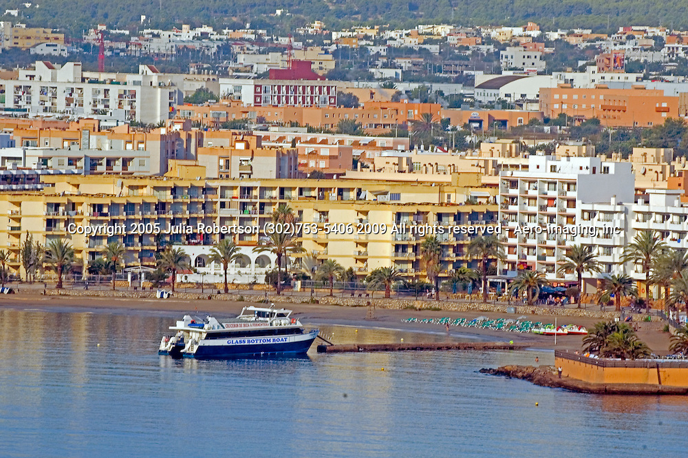 tour Boat, Glass Bottom, D'Alt Vila (the Old Town) ,Ibiza Spain,