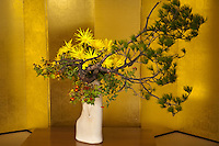"""Ikebana """"living flowers"""" is the Japanese art of flower arrangement, also known as kado the """"way of flowers"""".  It is a popular pastime in Japan particularly with women of a certain age."""