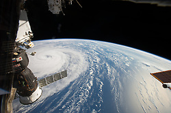 Aug 2, 2017 - Space - NASA astronaut Randy Bresnik photographed Super Typhoon Noru in the Northwestern Pacific Ocean on August 1, as the International Space Station passed overhead. He shared images of the massive storm on social media, writing, 'Super Typhoon Noru, amazing the size of this weather phenomenon, you can almost sense its power from 250 miles above.' (Credit Image: ? NASA/ZUMA Wire/ZUMAPRESS.com)