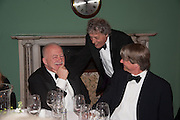 PHILIP MANSEL; SIR TOM STOPPARD, The London Library Annual  Life in Literature Award 2013 sponsored by Heywood Hill. The London Library Annual Literary dinner. London Library. St. james's Sq. London. 16 May 2013.