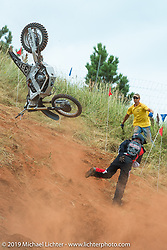 Annual Jack Pine Gypsies Hill Climbs during the Sturgis Black Hills Motorcycle Rally. SD, USA. August 8, 2014.  Photography ©2014 Michael Lichter.