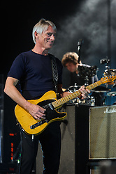 "© Licensed to London News Pictures. 09/03/2015Watford, UK. Paul Weller performs at The Colosseum, Watford, Herts as part of a tour of towns and cities ""often missed"" by artists. The 14 date show kicked off on 5 March at the Plymouth Pavillions before heading to Swindon, Watford, Stoke-On-Trent, Halifax and more. Photo credit : Simon Jacobs/LNP"