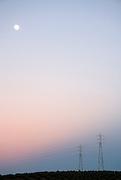 Substation masts at dusk