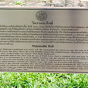 THA/Bangkok/20160729 - Vakantie Thailand 2016 Bangkok, Uitleg Mahabodhi Hall