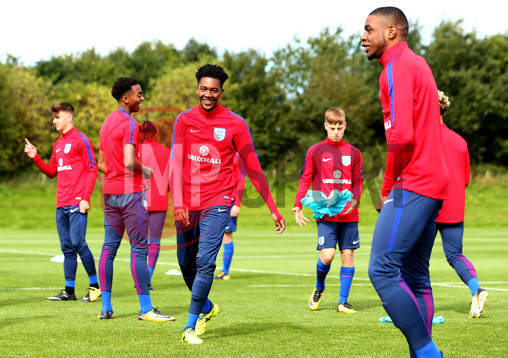 Jaden Brown takes part in training with England Under 19s ahead of the International Friendlies against Poland and Germany - Mandatory by-line: Robbie Stephenson/JMP - 31/08/2017 - FOOTBALL - England U19 - Training session ahead of international friendlies against Poland and Germany