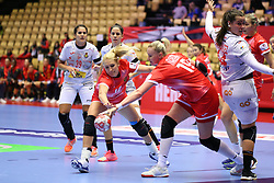 HERNING, DENMARK - DECEMBER 3, 2020: EHF Euro 2020 Group C match between Russia and Spain in Jyske Bank Boxen, Herning, Denmark on December 3 2020. Photo Credit: Allan Jensen/EVENTMEDIA.