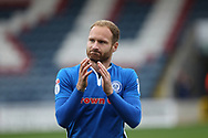 Matty Done during the EFL Sky Bet League 1 match between Rochdale and Gillingham at Spotland, Rochdale, England on 23 September 2017. Photo by Daniel Youngs.
