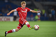 Mats Daehli of Cardiff city in action.Skybet football league championship match, Cardiff city v Middlesbrough at the Cardiff city stadium in Cardiff, South Wales on Tuesday 16th Sept 2014<br /> pic by Andrew Orchard, Andrew Orchard sports photography.