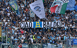 May 6, 2018 - Rome, Lazio, Italy - SS Lazio supporters banner 'Ciao Baldini' during the Italian Serie A football match between S.S. Lazio and Atalanta at the Olympic Stadium in Rome, on may 06, 2018. (Credit Image: © Silvia Lore/NurPhoto via ZUMA Press)