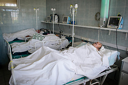May 27, 2019 - Tambov Region, Tambov region, Russia - The intensive care unit at the district hospital  (Credit Image: © Demian Stringer/ZUMA Wire)