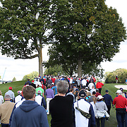 Ryder Cup 2016. Spectators at practice day at the Hazeltine National Golf Club on September 29, 2016 in Chaska, Minnesota.  (Photo by Tim Clayton/Corbis via Getty Images)