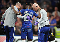 Football - 2018/ 2019 Premier League - Chelsea vs Burnley<br /> <br /> Callum Hudson - Odoi of Chelsea goes off injured with help from the two trainers at Stamford Bridge<br /> <br /> Colorsport  / Andrew Cowie