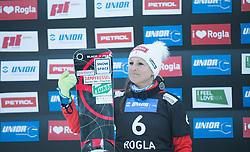 Riegler Claudia during the FIS snowboarding world cup race in Rogla (SI / SLO) | GS on January 20, 2018, in Jasna Ski slope, Rogla, Slovenia. Photo by Urban Meglic / Sportida